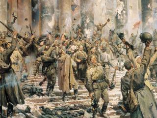 обои Победоносная армия в Берлине фото
