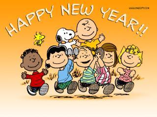 обои Happy New Year,   Charlie Brown фото