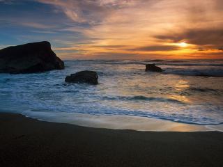 обои Закатное море фото