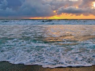 обои Закат летнего моря фото