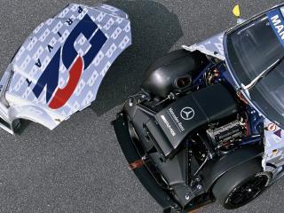обои MB C DTM вид стороны двигателя фото