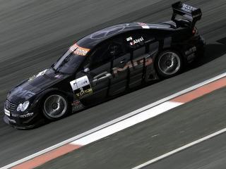 обои Mercedes CLK DTM   вид с камеры сбоку фото