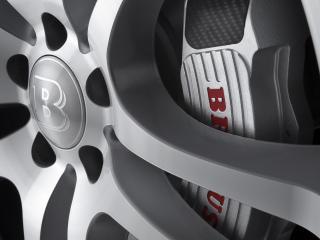 обои MB_GL Brabus вид машины со стороны колеса фото