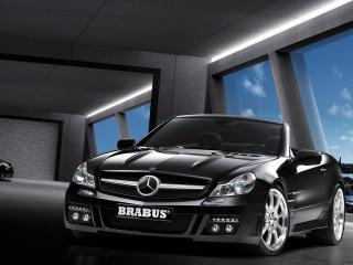 обои MB SL brabus вид машины в салоне фото
