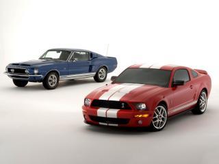 обои Shelby Mustang GT500 side фото
