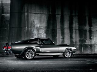 обои Shelby Mustang GT500 black фото