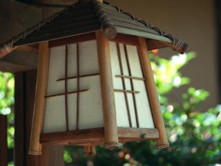 обои Маленький японский фонарик фото