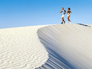 обои Прогулка в пустыне фото