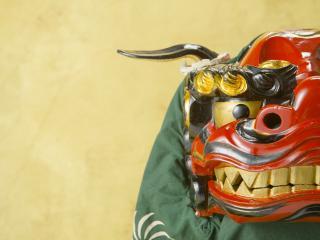 обои Японская маска дракона фото