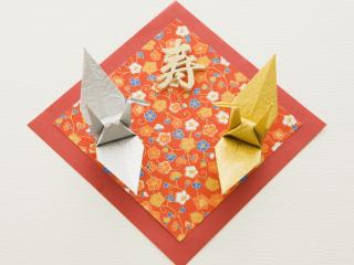 обои Оригами,   две зверюшки на полтне фото