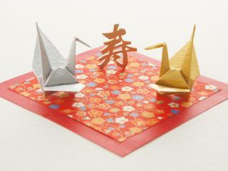 обои Две оригами на полотне фото