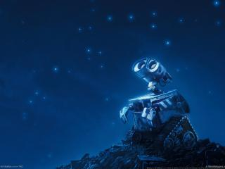 обои Wall-e смотрит в небо фото