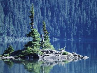 обои Каменный островок фото