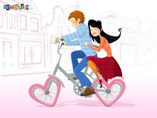 обои Велосипед любви фото