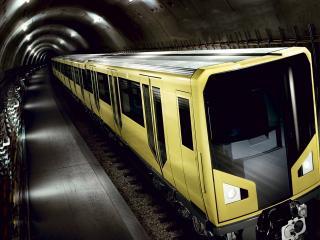 обои Подземный поезд фото