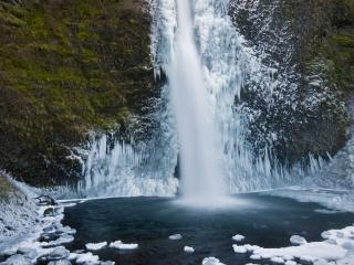 обои Замерзающий водопад фото