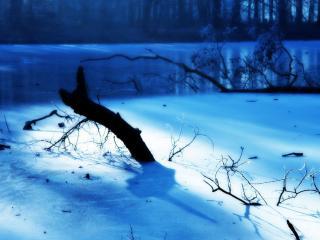 обои Озеро во льду фото