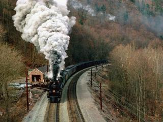 обои Горная железная дорога фото
