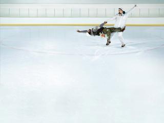 обои Фигуристы на льду фото