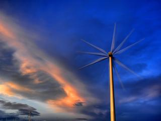 обои Электричество из ветра фото