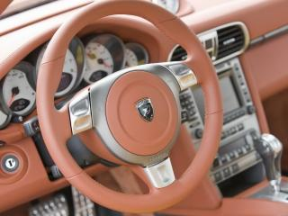 обои P Hamann911Turbo Stallion 2008 вид изнутри машины под другим углом к камере фото