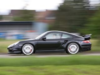 обои Porsche 911 sportec вид авто сбоку фото