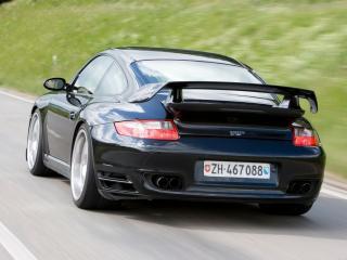 обои Porsche 911 sportec вид авто сзади фото