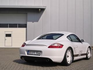 обои Porsche Cayman 9ff вид авто с другого плана обзора фото
