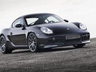 обои Porsche cayman вид авто с развороту фото