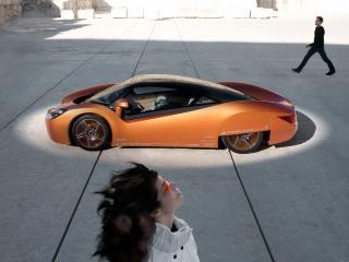 обои Rinspeed ichange вид авто сбоку фото