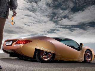 обои Rinspeed ichange вид авто со стороны объектива под углом фото
