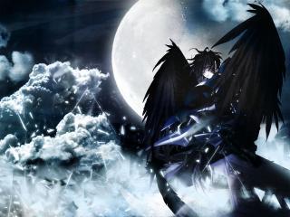 обои Черный ангел фото