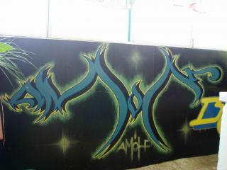 обои Граффити с изображением символа фото