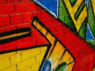 обои Разноцветное граффити на стене фото