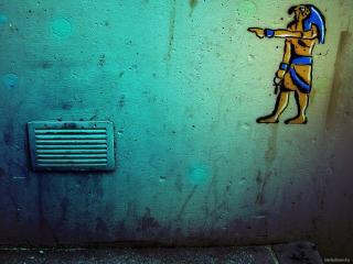 обои Граффити с египетским персонажем фото
