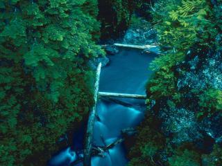 обои Синяя река фото
