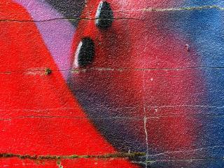 обои граффити в стене фото