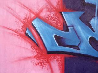 обои граффити кусочек фото