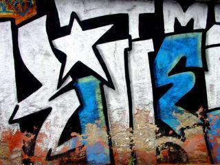 обои стена с граффити фото