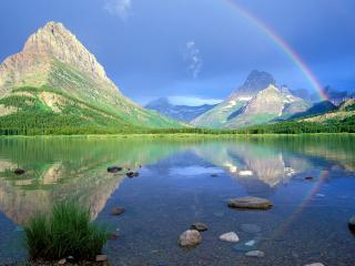 обои Отражение радуги фото