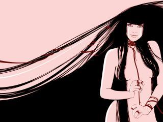 обои Девушка с длинными волосами фото