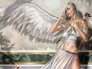 обои Ангел в белом фото