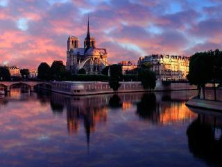 обои Notre Dame at Sunrise,   Paris,   France фото