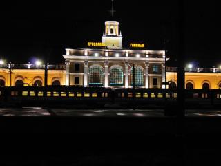 обои Вечерний вокзал фото