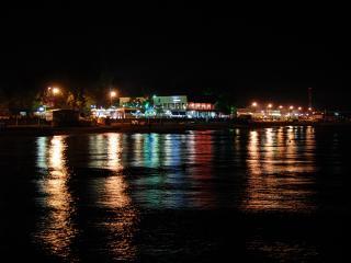 обои для рабочего стола: Вид на вечерний город