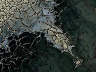 обои Dried cracked mud in Camargue фото
