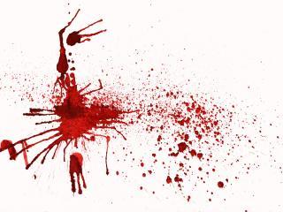 обои Кровь на белом фото