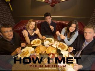 обои Как я встретил вашу маму,   за столом фото