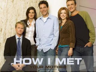 обои Как я встретил вашу маму,   у стены фото
