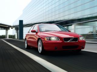 обои Volvo S60 красного цвета вид спереди фото